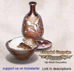 Luminous Echo: rice and Sake