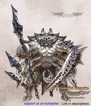 Luminous Echo: Vagragora warrior by Wen-M