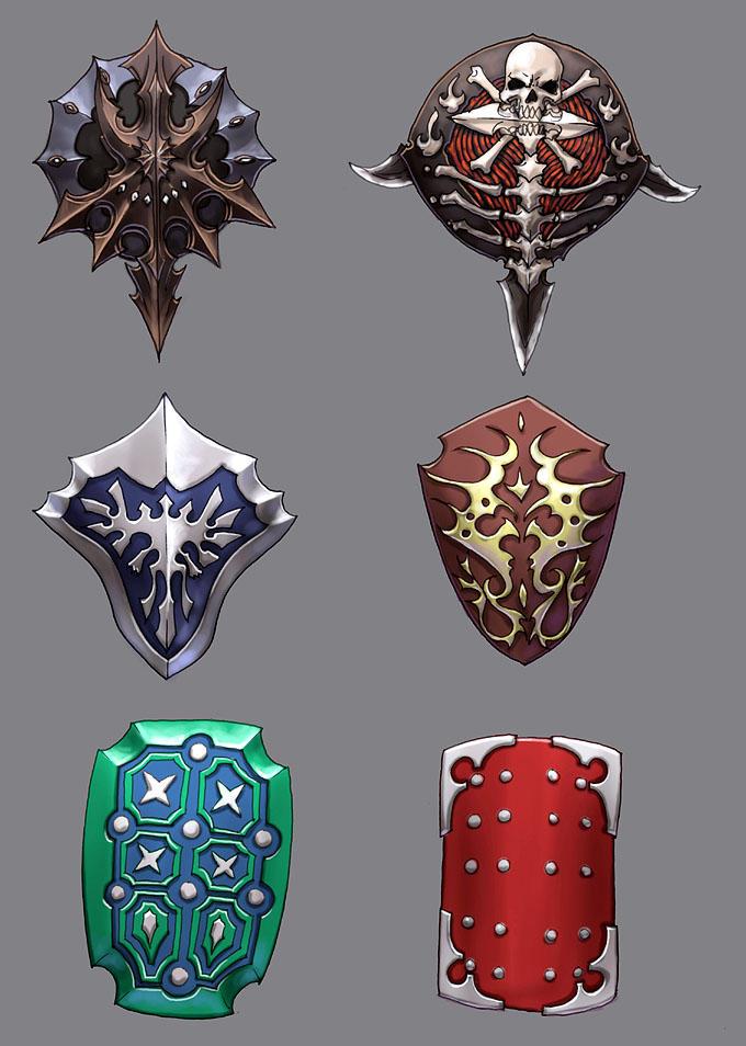 shield designs 1 by Wen-M