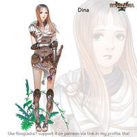 Rosgladia: Dina colored by Wen-M
