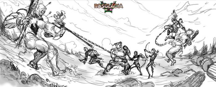 Rosgladia: Cyclops fight 1 by Wen-M