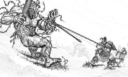Rosgladia: Cyclops fight 1B by Wen-M