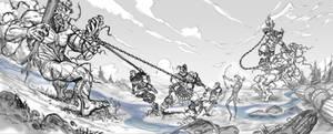 Rosgladia: Cyclops fight 1C by Wen-M