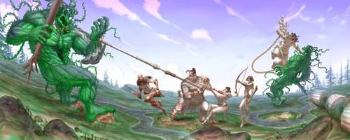 Rosgladia: cyclops fight 1F by Wen-M