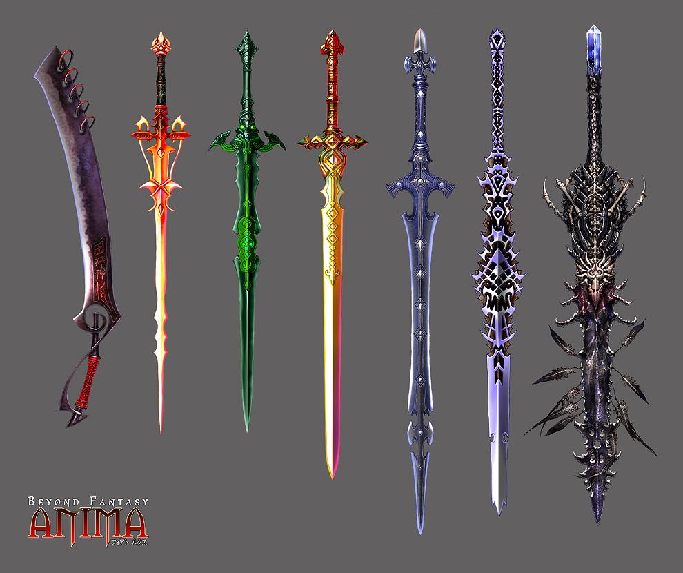 Anima: new swords set 1 by Wen-M on DeviantArt