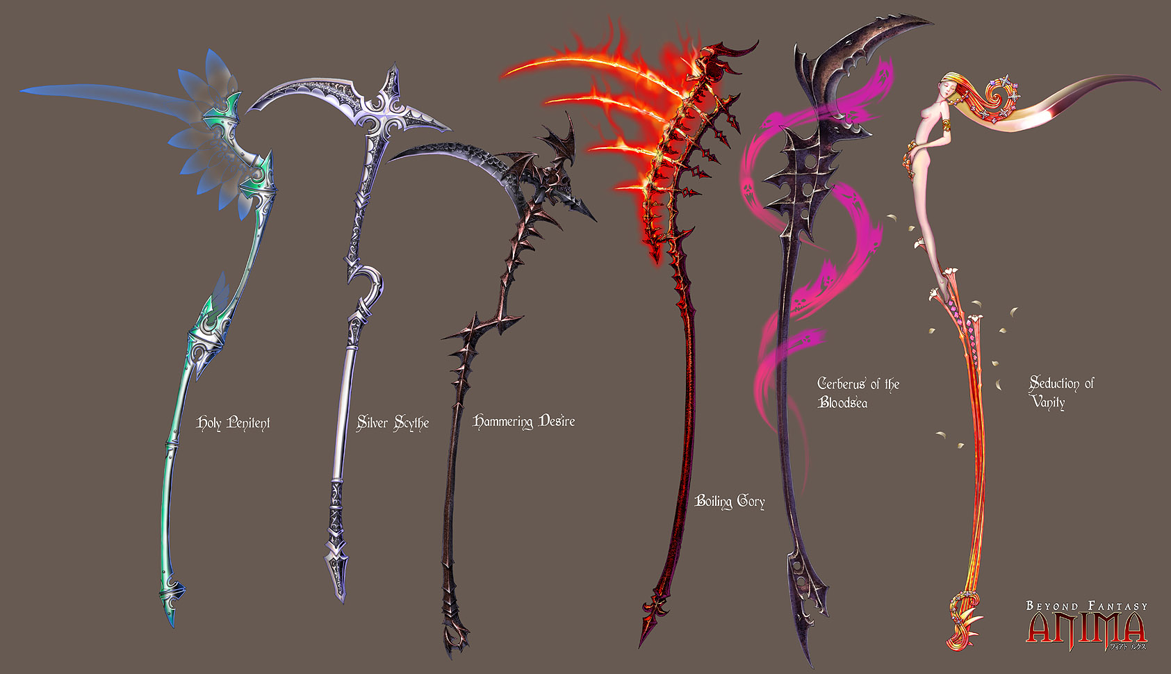 Weapon; DarkSoul; The Dark Scythe Anima__Scythes_set_1_by_Wen_M