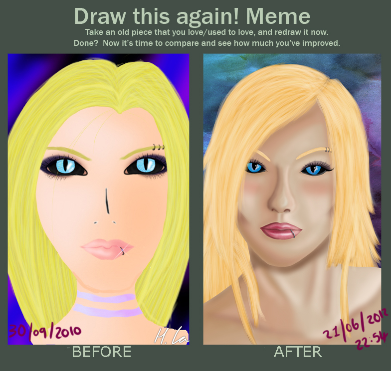 Draw this again meme completed by Helena-Lou
