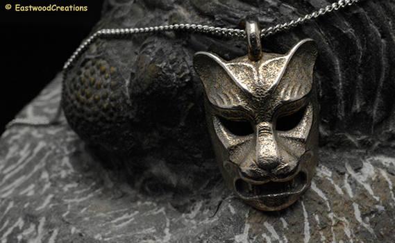 Leopard kabuki-style Pendant