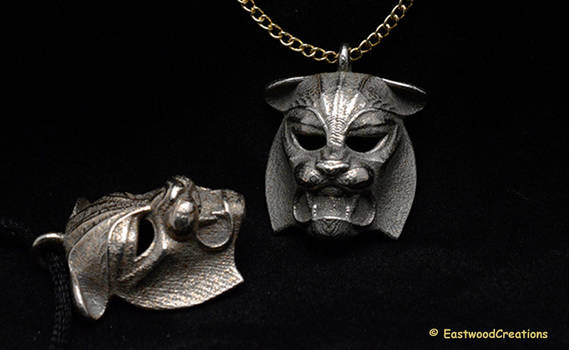 Tiger kabuki-style Pendant by MichaelEastwood