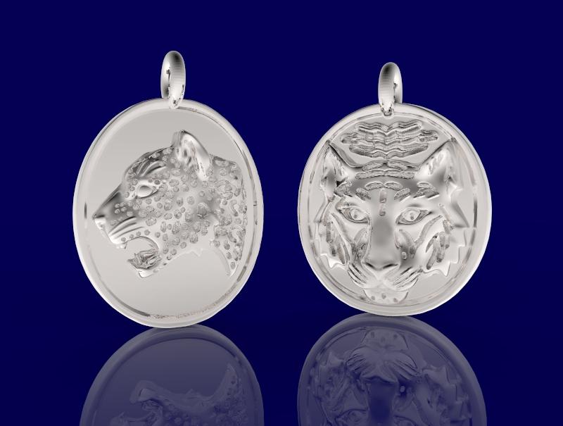 Precious metal animal pendant renders by MichaelEastwood