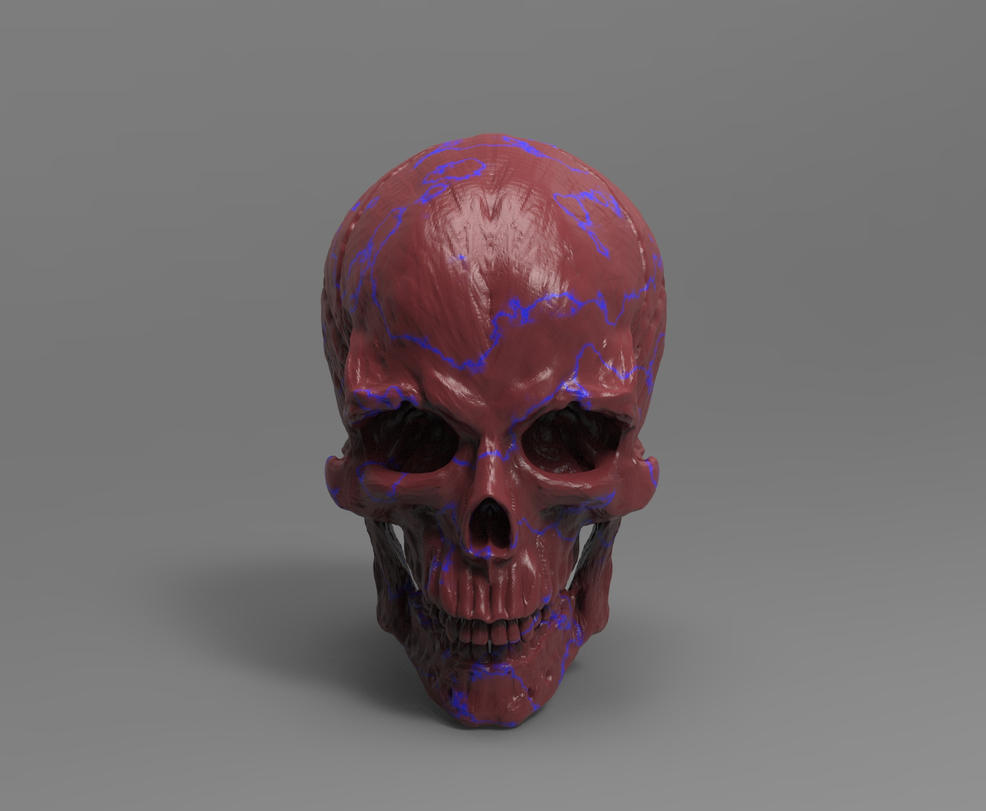 Skull Zbrush speed sculpt by MichaelEastwood