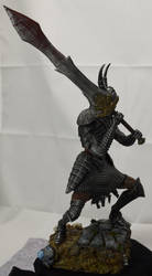 Dark Souls Black Knight Collectable side view by MichaelEastwood