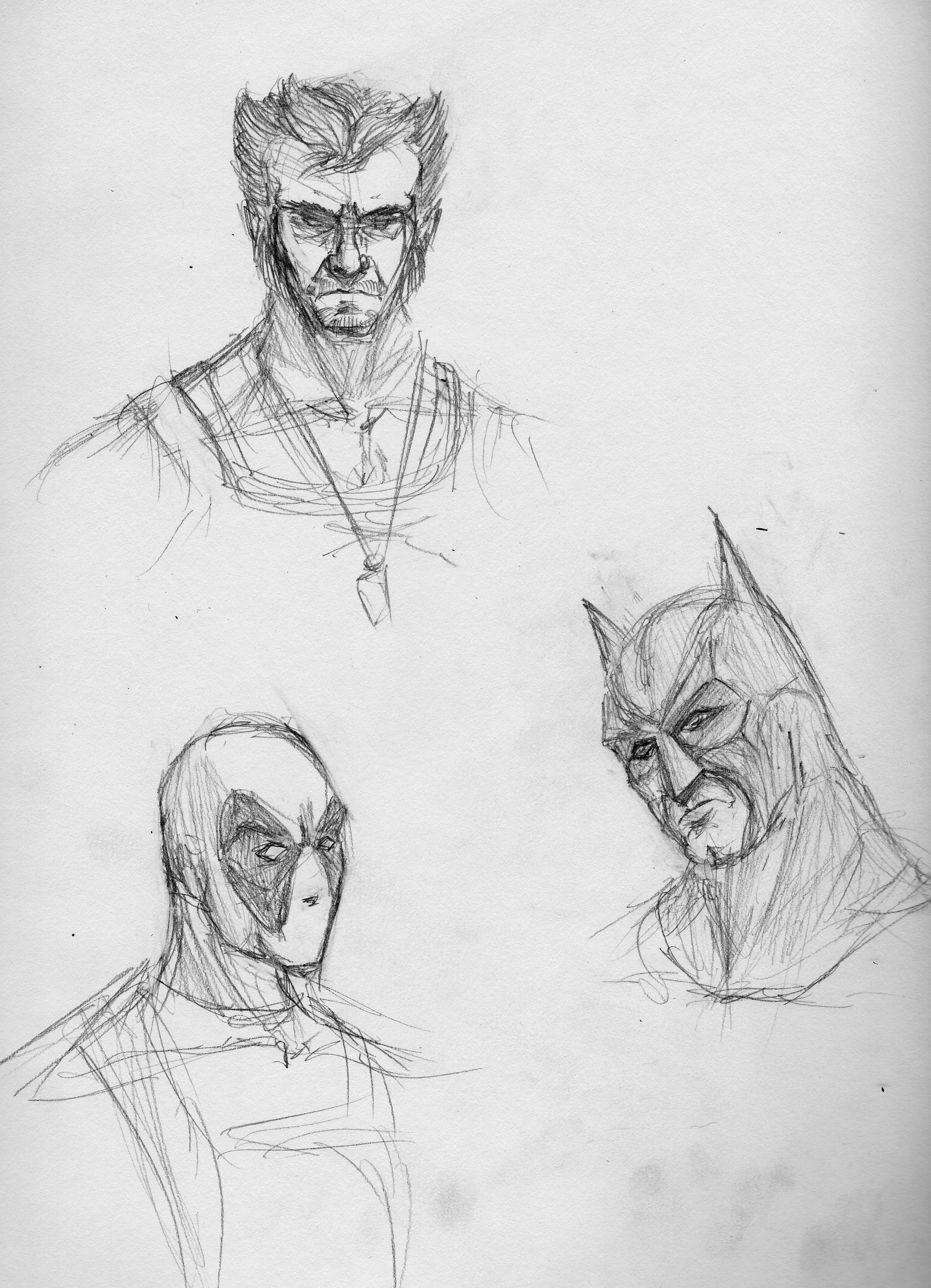Superhero sketches by qwertyempire on deviantart for Super cool drawings