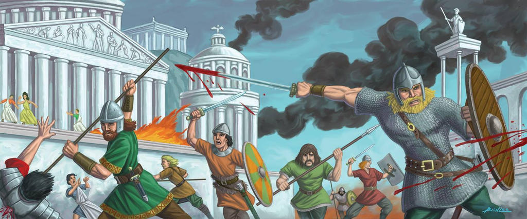 Visigoths Sacking Rome by Taman88
