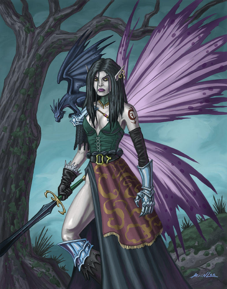 Unseelie Girl and Her Pet