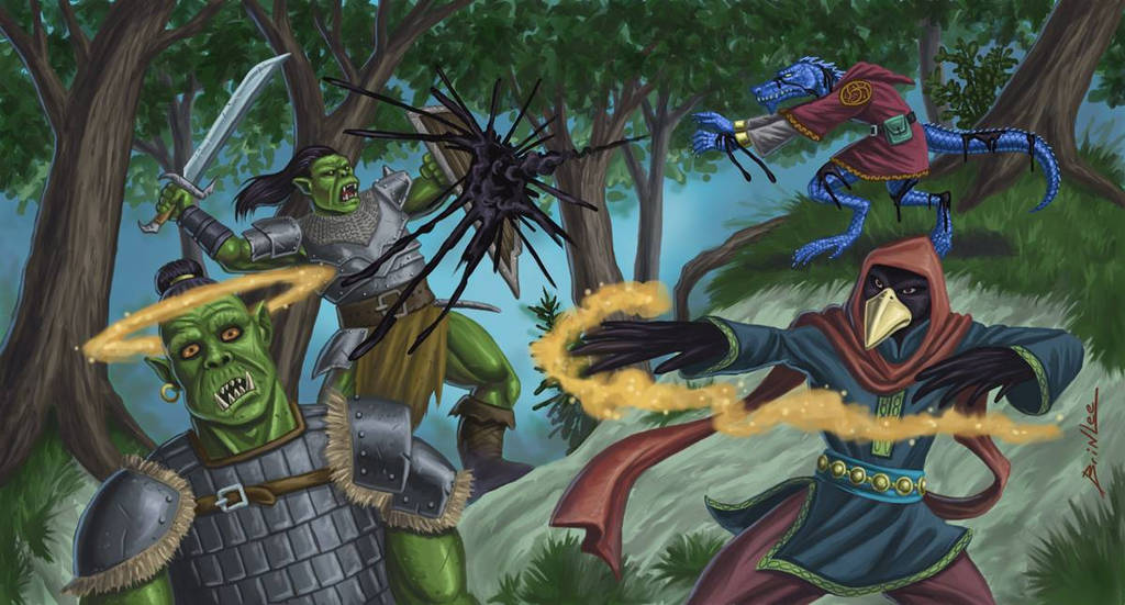 Taking Down the Orcs by Taman88