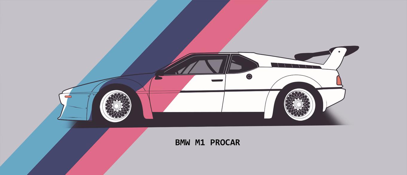 BMW M1 Procar - lineart by Danyutz