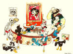 The Cuphead Cafe by Scarlet-Ajani