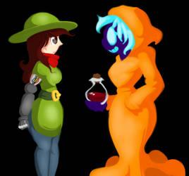 Juko and Annah: Art-Trade by Scarlet-Ajani