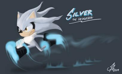 Silver the Hedgehog by Scarlet-Ajani