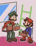 Remember when Mario and Luigi made Booze?