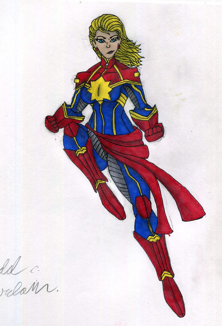 Captain Marvel by supertodd9