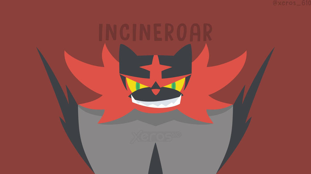 Incineroar minimal wallpaper by xeros610 on deviantart for Minimal art 2016