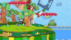 Rayman vs Yoshi - SSF2 Screenshot - 7