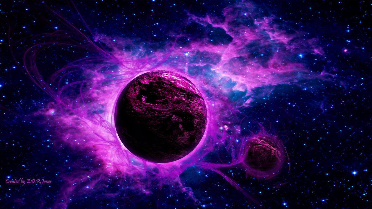 purple and blue planets - photo #19