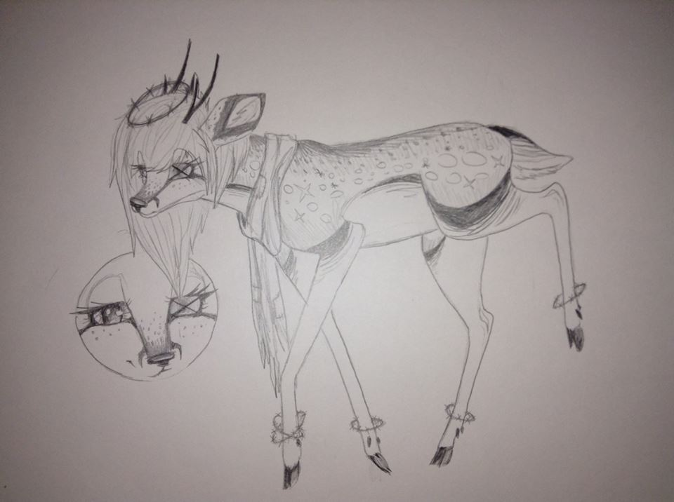 Traditional deer Adopt -OPEN- by ForsakenShadows