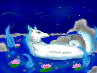 Youkai on the water by kiki666999