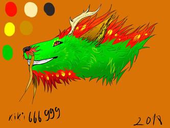 Head of dragon by kiki666999