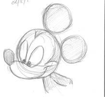 Random Mickey Sketch by DarylT