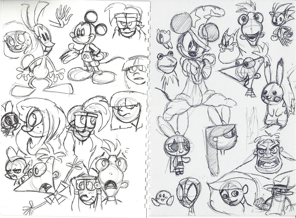 P1 Notebook Doodles by DarylT
