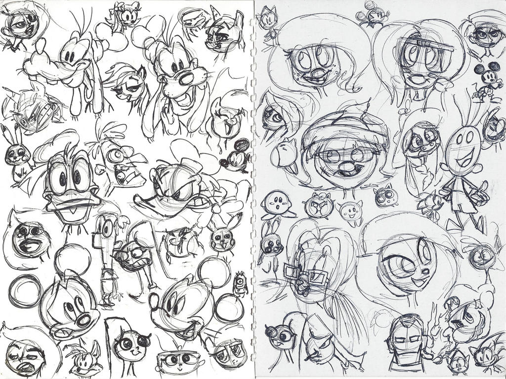 P2 Notebook Doodles by DarylT