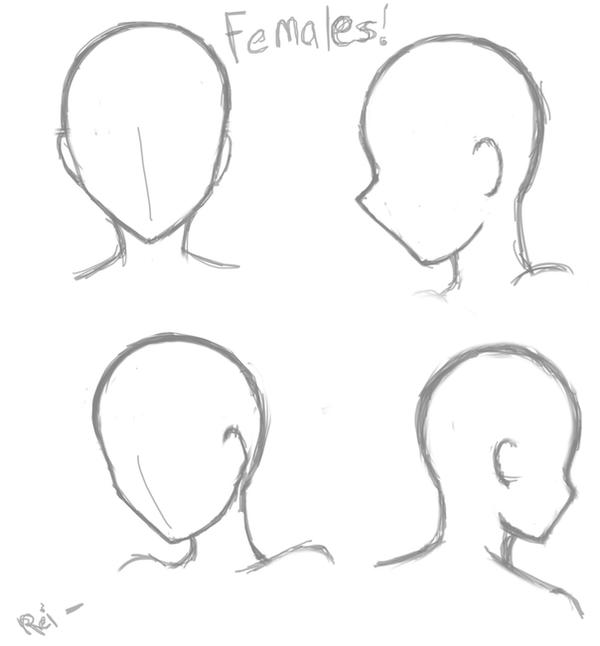 Basic Female Head Poses 99394068 on Shapes Coloring Pages Daily Com