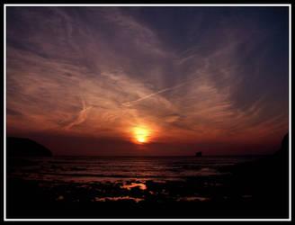 Trevellas Porth Sunset by Pjharps