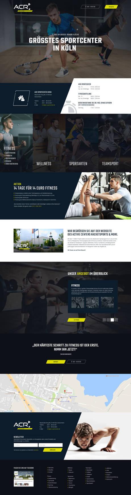 Sportcenter Cologne Webdesign