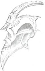 Demon skull by Sin-Syko