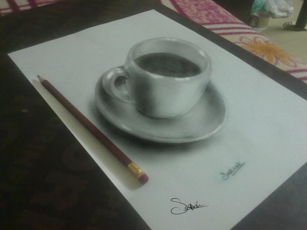 Pencil Drawing 3d By Sks007 On Deviantart