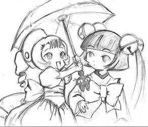 Sumomo + Kotoko by HeLLKaTSTaRKiTTy