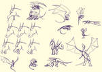 Dragon Poses and Emotions