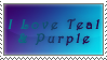 Teal and Purple love by MyHysteria