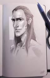 Last page of my Sketchbook by Amaena
