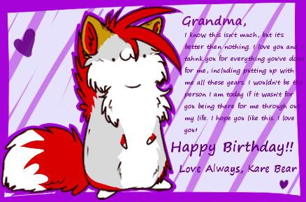 Happy Birthday Grandma by DoubleRainbowBear