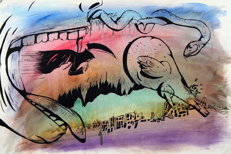 AP Art: Watercolor Abstract by Jesus-Fishboy