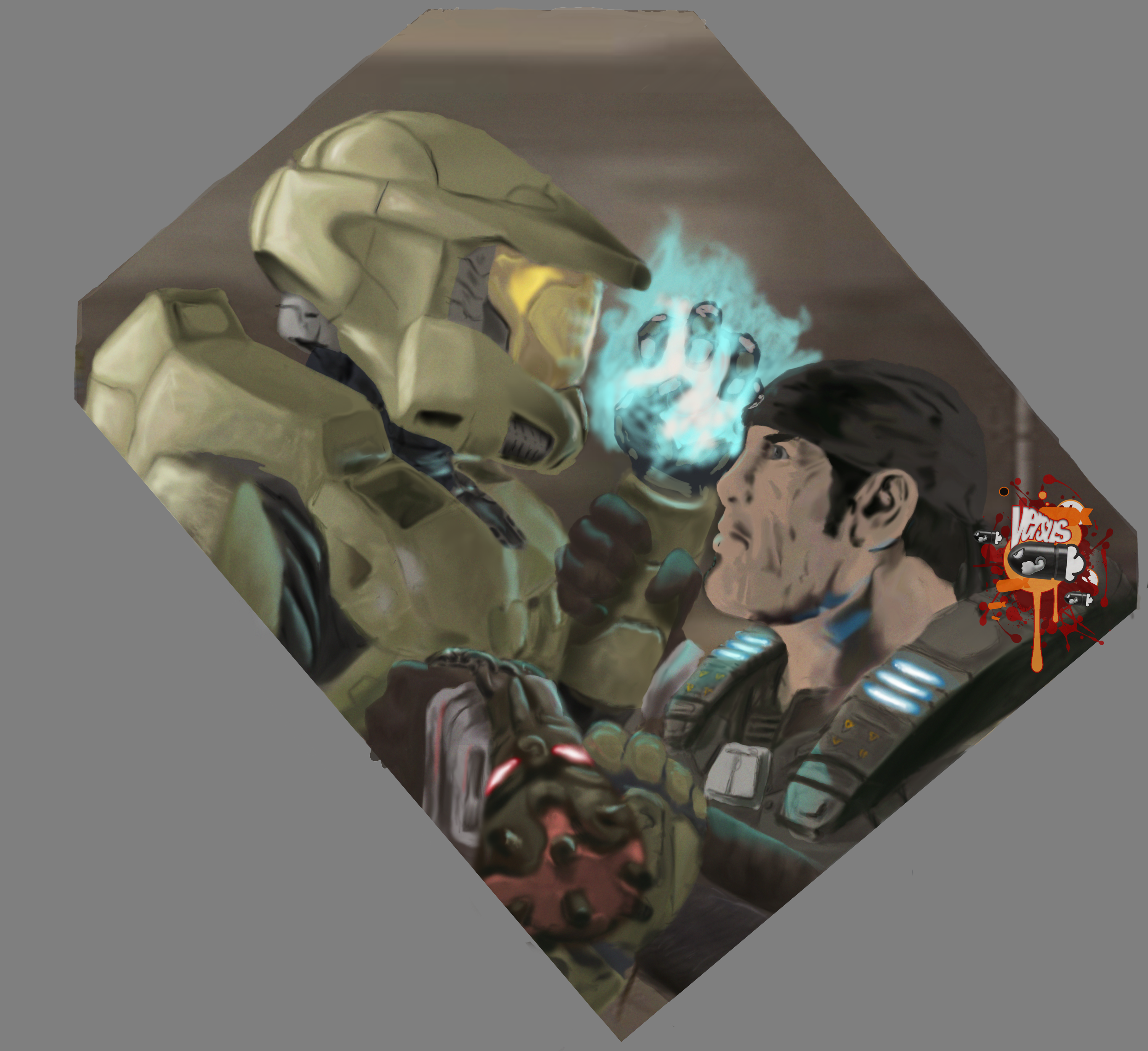 VS: Marcus vs Master Chief by Darkf0rgd on DeviantArt