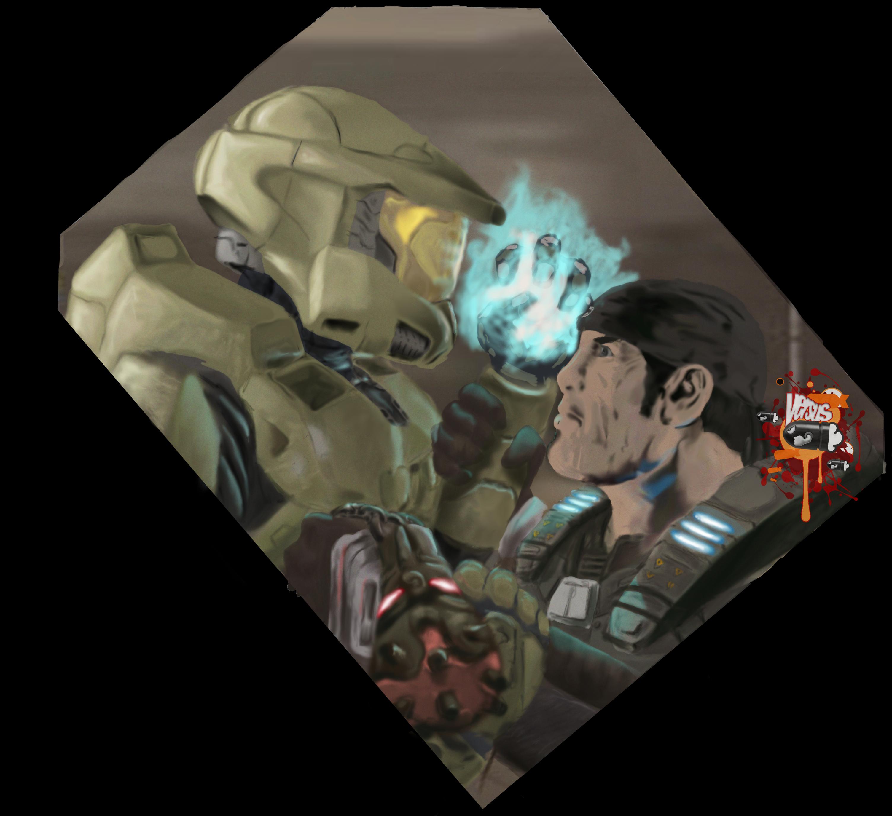 VS: Marcus vs Master Chief by Darkf0rgd on DeviantArt