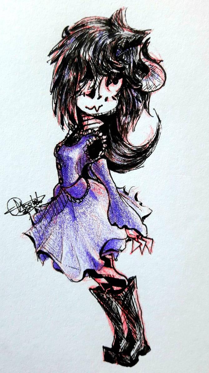 The Cute Demon Sketch By Nekogirl201 On Deviantart