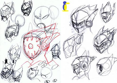 N.A.V.O.S. Phoenix Face Sketch 1